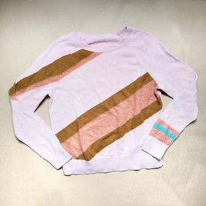 Moth Anthropologie pink retro alpaca blend sweater